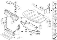 Abschirmung Motorraum / Luftführung