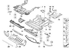 Abschirmung Motorraum / Unterbodenverkl.