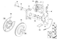 BMW Performance Hinterradbremse
