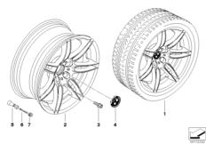 BMW LM Rad Doppelspeiche 288