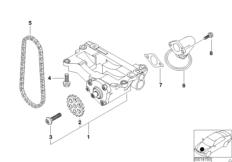 Ölversorgung / Ölpumpe mit Antrieb