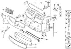 Vorderwand / Karosserieteile Motorraum