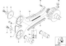 Ventilsteuerung-Nockenwelle / Kettentrieb