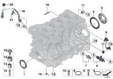 Zylinder-Kurbelgehäuse / Anbauteile