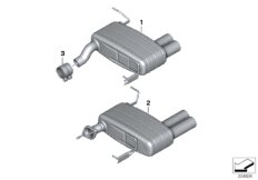BMW Performance Schalldämpfer-System