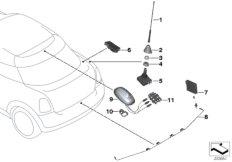 Einzelteile Antenne