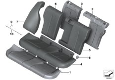 Sitz hinten Polster und Bezug Basissitz