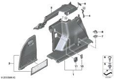 Verkleidung Gepäckraum links
