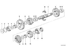 5 Gang Getriebe-Abtriebswelle