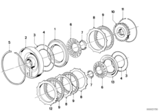 ZF 3HP22 Bremskupplung C / C'