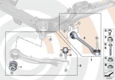 Reparatursatz Zugstreben und Querlenker