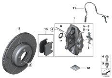 Vorderradbremse-Bremsbelag-Power Kit