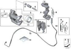 Hinterradbremse-Bremsbelag-Fühler