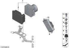 Hydroaggregat DSC / Steuergerät / Halterung