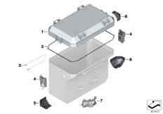 Einzelteile Aluminiumkoffer