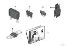 Einzelteile Sicherungsgehäuse