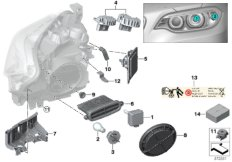 Einzelteile Scheinwerfer Xenon