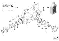 Hinterachsgetriebe-Antrieb / Abtrieb