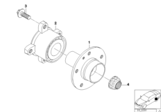 Hinterachswelle / Radlagerung