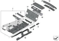 Trennwand Gepäckraum / Bodenteile