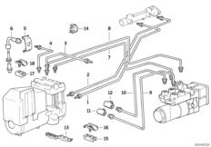 Bremsleitung vorne ABS / ASC+T