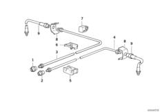 Bremsleitung hinten ABS / ASC+T