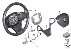 Lenkrad Leder Airbag