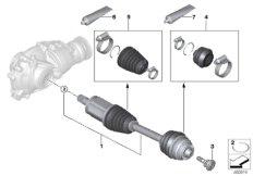 Abtriebswelle vorne links  /  Allrad