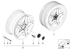 BMW LM Rad Sternspeiche 74