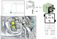 Relais Motor DDE K2085
