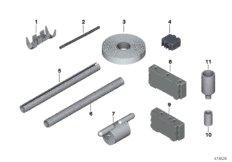 Diverse Einzelteile Kabelbaumreparatur