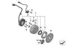Generator-Anlasserfreilauf