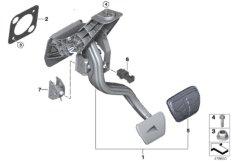 Fusshebelwerk Automatikgetriebe