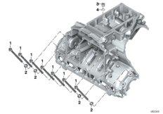 Verschraubung Motorgehäuse Unterteil