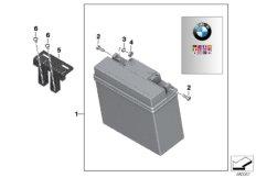 Batterie mit Halter