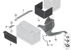 Batterie Anbauteile