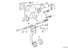 Fusshebel / Bremslichtschalter
