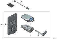 BMW Display Key  /  Satz FFB mit BDC