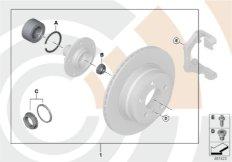 Reparatursatz Radlager hinten