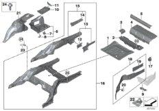 Gepäckraumboden / Radhaus hinten