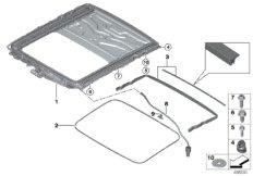 Schiebehebedach-Rahmen