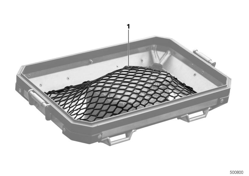 Gepäcknetz Aluminiumkoffer