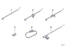 Kabelbinder, Kabelbinder mit Halter