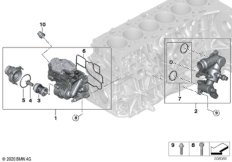 Kühlsystem-Thermostatgehäuse