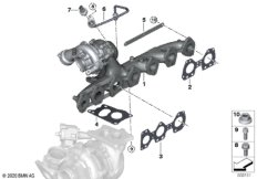 Turbolader mit Abgaskrümmer