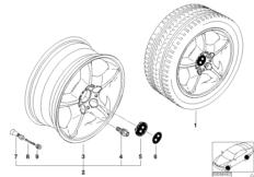 BMW LM Rad Sternspeiche 57
