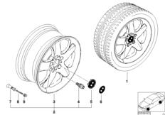 BMW LM Rad Sternspeiche 58