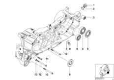 Motorgehäuse Anbauteile