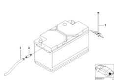 Batteriebefestigung u. Anbauteile