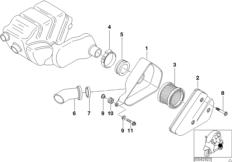 Ansauggeräuschdämpfer / Filtereinsatz